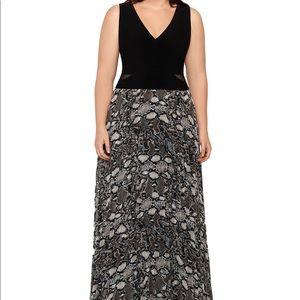 XSCAPE black snake formal dress